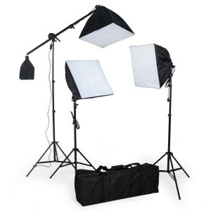 3x Studiolampen voor digitale of analoge fotografie Softbox