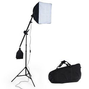 3x Studiolampen voor digitale of analoge fotografie Softbox in zwart ...