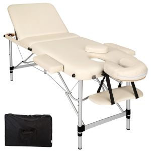 3-zones massagetafel Alu 5 cm matras + tas