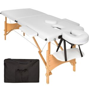 2 zone massagetafel Freddi 5cm matras + tas wit