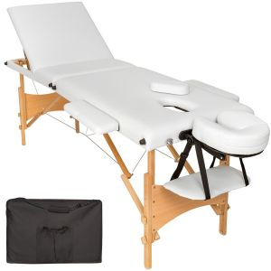 3 zone massagetafel Daniel, matras + tas wit