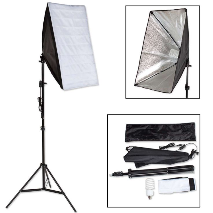 Studiolamp voor digitale of analoge fotografie, Softbox