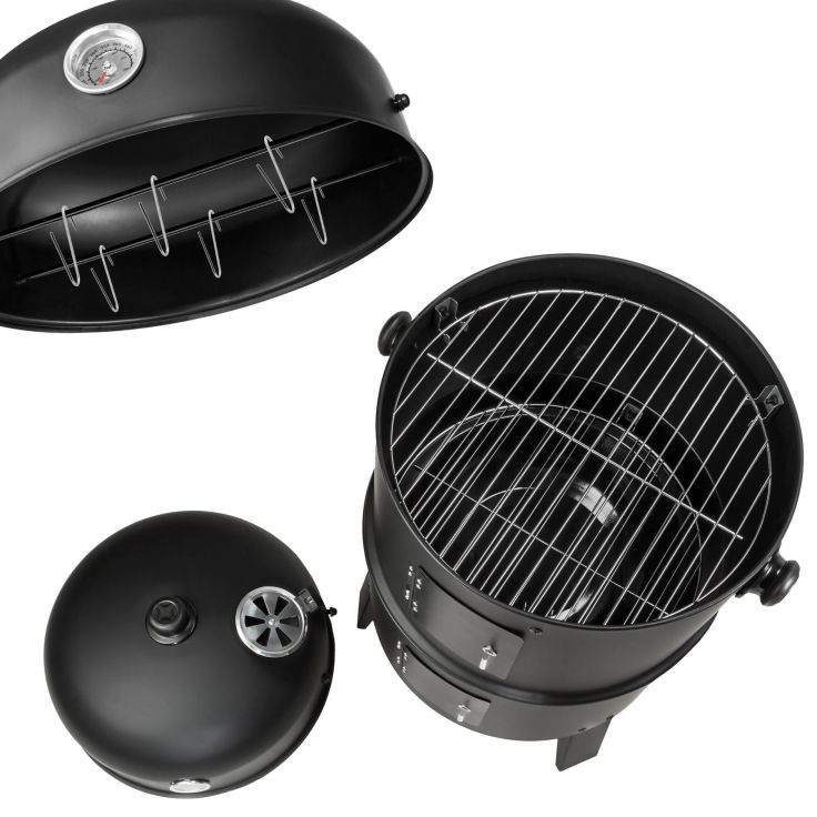 3 in1 BBQ Charcoal barbecue smoker ton